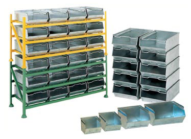 Etonnant Galvanised Vista Bins, Racks And Trolleys, Louvred Bins, Racks And Trolleys