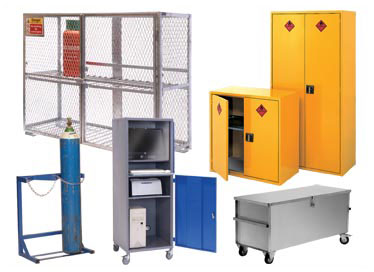 Cupboards, First Aid Cupboards, Hazardous Storage, Computer Security Storage, Mesh Clothes and Compartment Lockers, Mesh Cabinets, Security Enclosures, Cylinder Racks